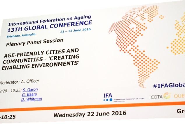 Troisième conférence internationale des villes amies des aînés à Brisbane, Australie