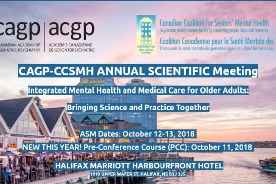 CAGP-CCSMH Annual Scientific Meeting, Halifax.